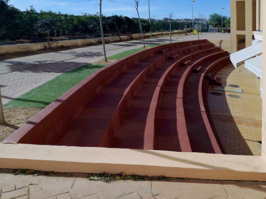 construcciones y reformas castellón gyt G&T gradas colegio lledó construcción (5)
